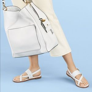 COLE HAAN WHITE ANICA THONG SANDAL